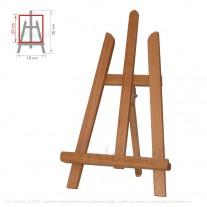 Sztaluga mini trójnożna nr 10 z drewna bukowego 1 klasy
